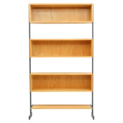 1 / 8 Free Standing Single Bookcase, Shelf Germany 1960s