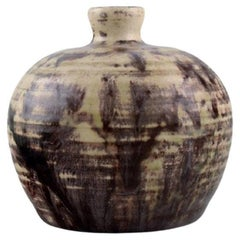 Pieter Groeneveldt, Unique Vase in Grooved Body Glazed Ceramics