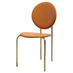 SP01 Michelle Chair in Edinburgh Cognac Leather, Made in Italy