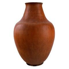 Triller Tobo, Sweden, Stylish Unique Vase in Glazed Ceramic, 1970s