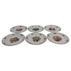 6 Pieces of Porcelain Plates, Rozenthal, Czechoslovakia