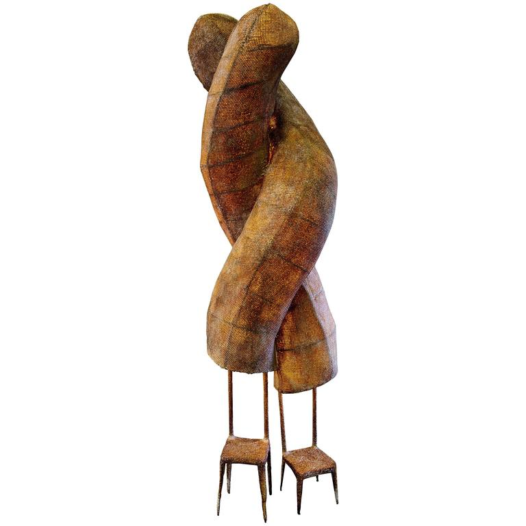"Nacho Carbonell No. 17 ""Twins"" in Iron Frame, Iron Mesh and Paper Pulp, 2014 For Sale"