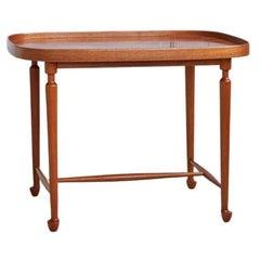 Vintage Mahogany Table Designed by Josef Frank for Svenskt Tenn, Sweden 1950's