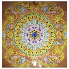 XXL Handmade Neapolitan Majolica Tile Panel, Italy