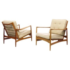 """Two Rare Danish """"6245"""" Lounge Chairs in Afromosia by Ib Kofod Larsen for G-Plan"""
