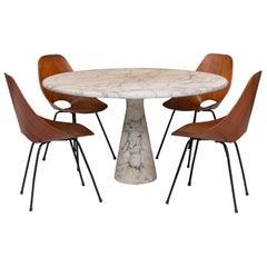 Dining Room Set with Mangiarotti, Ingo Maurer and Vittorio Nobili, Europe, 1970