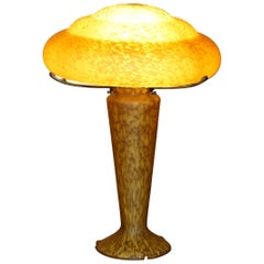 After Emile Galle France circa 1900-1920 Glass Table Lamp Exquisite Patination