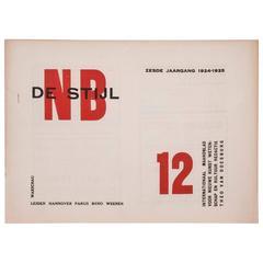 """De Stijl No. 23 """"De Stijl, Year VI, No.12"""" on Printed Paper, 1925"""