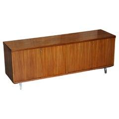 Stunning Restored Mid Century Modern Period Hardwood Sideboard with Chrome Legs