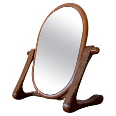 Handcrafted Mixed Wood Table Top Mirror, 1960s