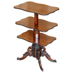 Restored Antique Gillows Cuban Hardwood Dumb Waiter Metamorphic Occasional Table