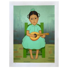 """Lithograph Serie """"Niños mexicanos"""" by Gustavo Montoya"""