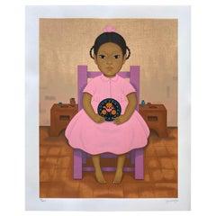 "Vintage Lithograph Serie ""Niños mexicanos"" by Gustavo Montoya"