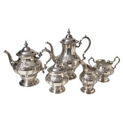 Sterling Silver Gorham Chantilly Tea Set