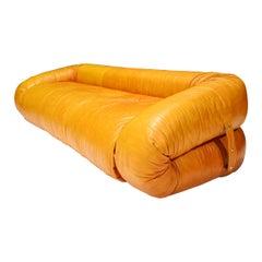 Leather Anfibio Sofa Bed by Alessandro Becchi for Giovannetti Collezioni, 1970s
