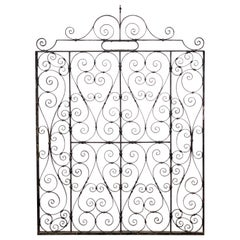 Large French Gate of Wrought Iron from the 19th Century