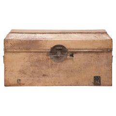 Chinese Hide Document Box, c. 1850