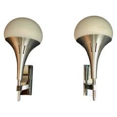 Sexy Pair of 1970's Sconces Design by Sciolari