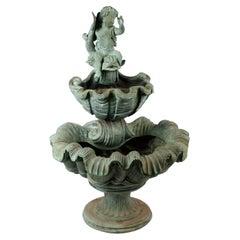 Bronze Figural Fountain with putto