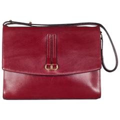 "Delvaux No. 26 ""Grenat"" Handbag in Box Calf Leather, 1979"