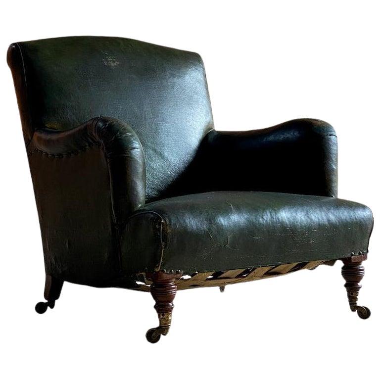 Howard & Sons Bridgewater Armchairs 19th Century England Circa 1840