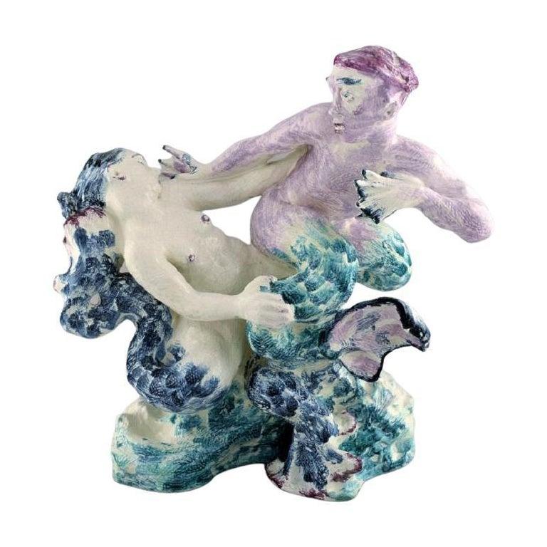 "Jean René Gauguin for Bing & Grøndahl, ""Play of the Waves"", Giant Sculpture For Sale"
