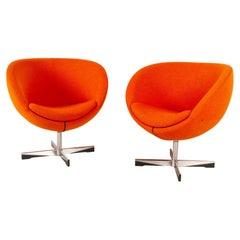 Pair of Scandinavian Modern Lounge Chairs by Sven Ivar Dysthe, 21st Century