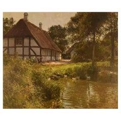 Søren Melchior Hansen, Oil on Board, Danish Summer Country Scenery