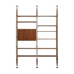 Franco Albini Modular Bookcase LB7 in Wood by Poggi Pavia 1956