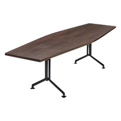 Studio BBPR Arco Conference Table in Wood and Metal by Olivetti, 1950s