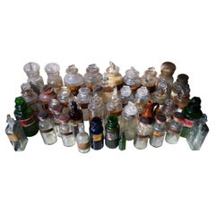 Large Mixed Collection of Forty-Four 19thC-20thC Glass Apothecary Bottles
