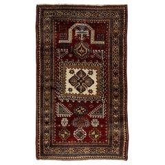 Semi Antique Caucasian Fachralo Kazak Prayer Rug, ca 1940