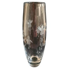 Hand Cut Rockingham Fuchsia Cascade Crystal Vase