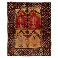 "Hand-Knotted Vintage Anatolian ""Tulu"" Rug, 100% Organic Wool 🐑"
