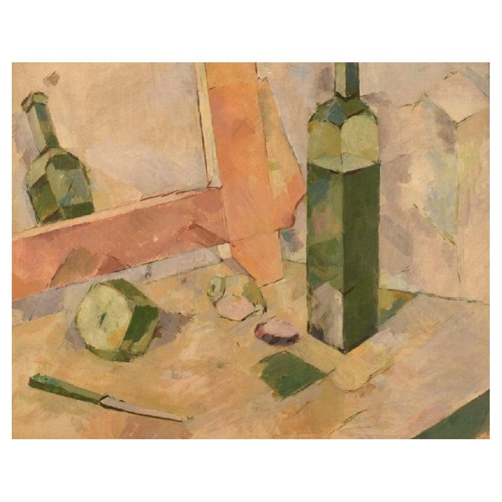 Unknown Artist, Oil on Board, Modernist Still Life, 1960s / 70s