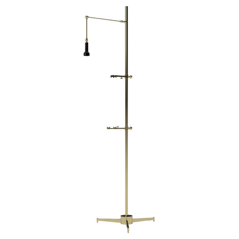 21st Century Cavalletto Floor Lamp, Angelo Lelii, 2019, Style of 1950s, Italy For Sale