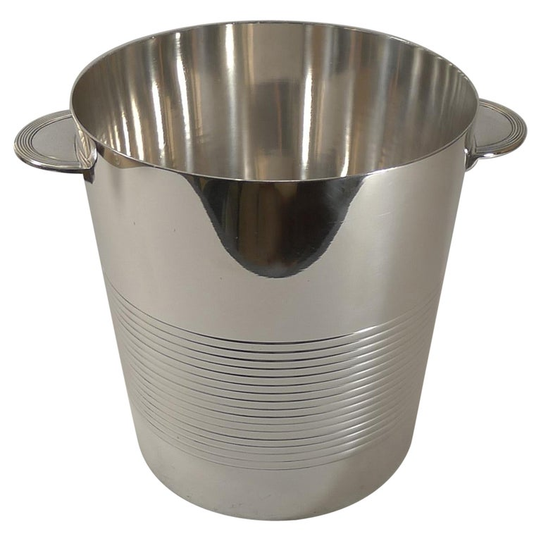 Luc Lanel for Christofle, Champagne Bucket / Wine Cooler, Vulcan c.1940 For Sale