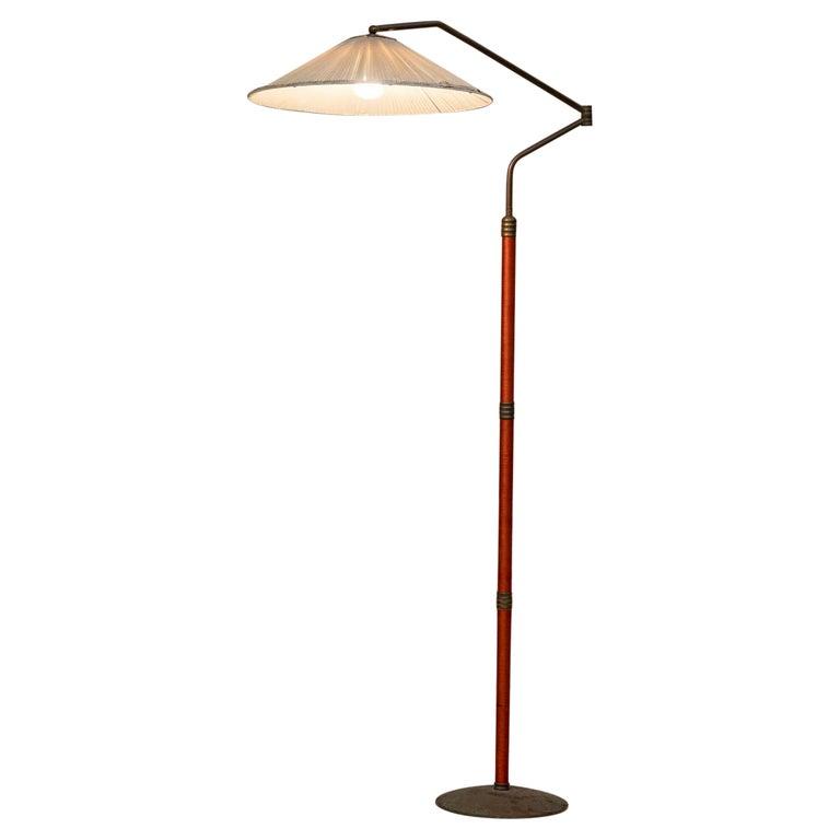 Italian Mid-Century Brass Floor Lamp