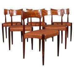 Bernhard Pedersen & Søn Set of Dining Chairs