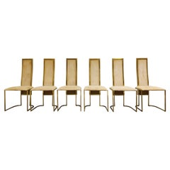 Vintage Brass Dining Chairs by Belgo Chrom, 1970s