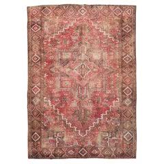 Mid-20th Century Handmade Persian Heriz Small Room Size Carpet
