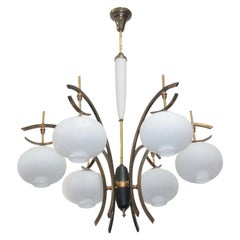 Midcentury Italian Ceiling Lamp in the Style of Arredoluce Angelo Lelli
