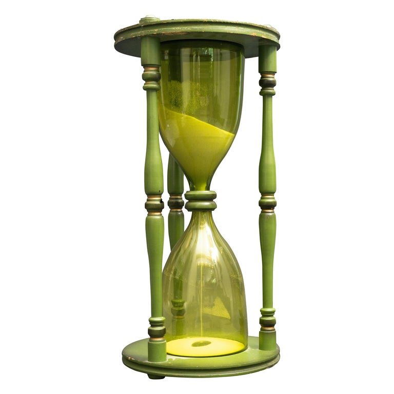 Large Green Hourglass For Sale