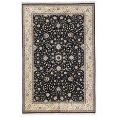 Vintage Persian Tabriz Pakistani Rug with Neoclassical Baroque Style