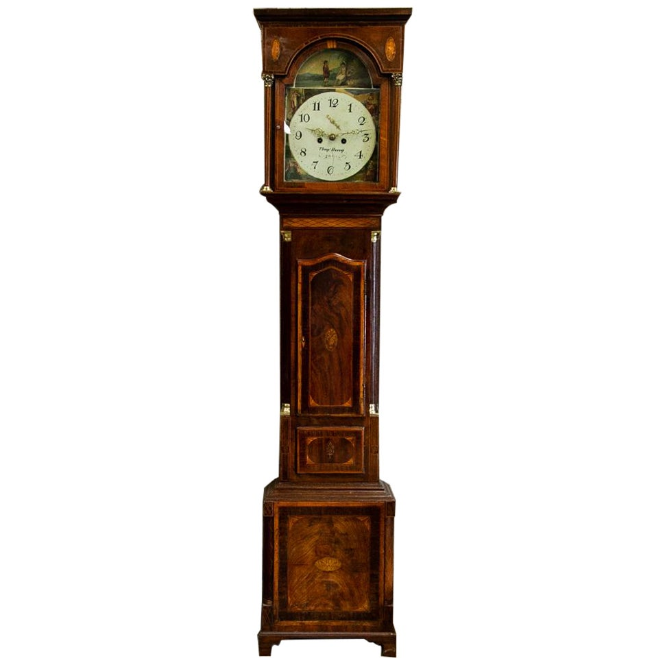 English Inlaid Grandfather Clock