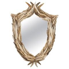 Genuine North Idaho Moose Tip Antler Mirror