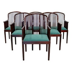 Contemporary Modern Stendig Andover Rosewood Set of 6 Dining Chairs 1980s Italy