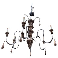 20th Century Gold Metal Chandelier from Italy