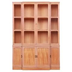 Edward Wormley for Drexel Precedent Elm Wood Breakfront Bookcase Cabinet, 1951