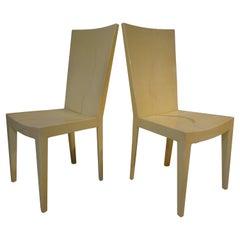 Karl Springer JMF Lacquered Goatskin Chairs